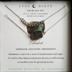 Luna Norte necklace set labradorite